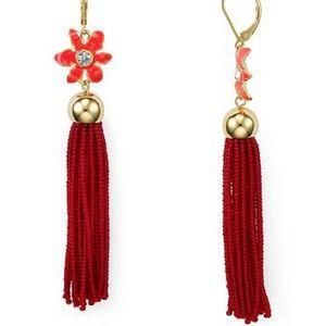 Kate Spade New York Lovely Lillies Tassel Earrings